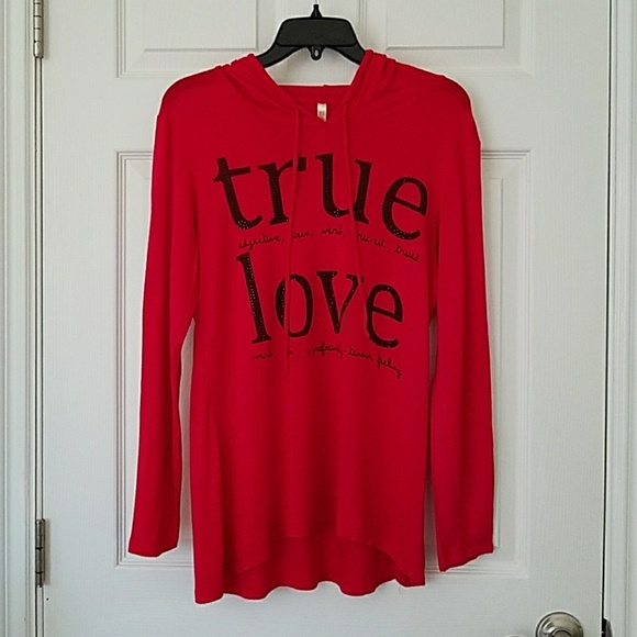 Ocasion Tops - Ocasion Hoodie True Love Red